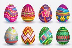 Insieme dell'icona dell'uovo di Pasqua Fotografia Stock