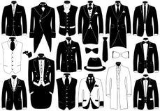 Insieme dell'illustrazione dei vestiti royalty illustrazione gratis
