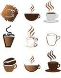 Insieme dell'illustrazione del caffè Fotografia Stock