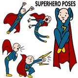 Insieme dell'illustrazione del supereroe Fotografia Stock Libera da Diritti