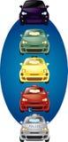 Insieme dell'illustrazione delle automobili Fotografie Stock