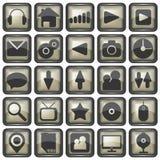 Insieme dell'illustrazione delle icone di web Fotografie Stock Libere da Diritti