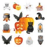 Insieme dell'illustrazione di Halloween Fotografia Stock Libera da Diritti