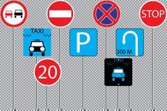Insieme dell'illustrazione di vettore dei segnali stradali eps10 illustrazione di stock