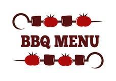 Insieme dell'illustrazione di vettore del BBQ Immagini Stock Libere da Diritti