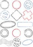 Insieme dell'illustrazione di vettore del bollo Immagini Stock Libere da Diritti
