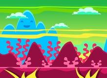 Insieme dell'illustrazione di vettore del fondo del gioco illustrazione di stock