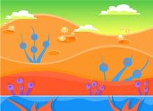 Insieme dell'illustrazione di vettore del fondo del gioco illustrazione vettoriale
