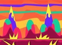 Insieme dell'illustrazione di vettore del fondo del gioco royalty illustrazione gratis