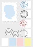 Insieme dell'illustrazione di vettore del francobollo Immagini Stock