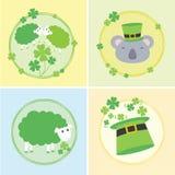 Insieme dell'illustrazione di vettore del giorno di St Patrick felice Immagine Stock