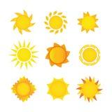 Insieme di Sun Fotografia Stock Libera da Diritti