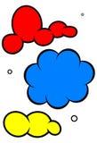 Insieme dell'illustrazione di vettore della nube del fumetto illustrazione vettoriale