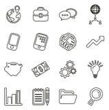 Insieme dell'illustrazione di vettore di Icons Thin Line del responsabile Immagine Stock