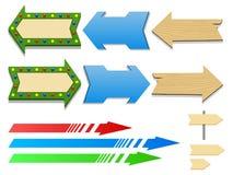 Insieme dell'illustrazione differente di vettore delle frecce Immagini Stock