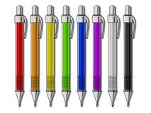 Insieme dell'illustrazione meccanica di vettore delle matite Immagini Stock Libere da Diritti