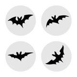 Insieme dell'illustrazione semplice dei pipistrelli Fotografia Stock Libera da Diritti