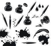 Insieme dell'inchiostro illustrazione di stock