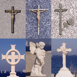 Insieme dell'incrocio di religione Immagine Stock Libera da Diritti