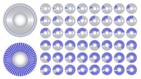 Insieme dell'indicatore di informazioni nel cerchio Fotografia Stock Libera da Diritti