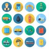 Insieme dell'industria del gas e dell'olio illustrazione di stock