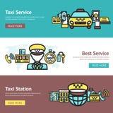 Insieme dell'insegna del taxi Immagini Stock