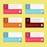 Insieme dell'insegna di opzioni di Infographics Fotografia Stock
