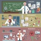 Insieme dell'insegna di scienza illustrazione vettoriale