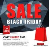 Insieme dell'insegna di web da vendere su Black Friday Fotografia Stock Libera da Diritti