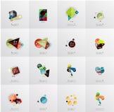 Insieme dell'insegna infographic geometrica astratta Fotografia Stock Libera da Diritti