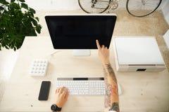 Insieme dell'interfaccia di presentazione del touch screen Fotografia Stock Libera da Diritti