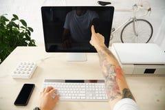 Insieme dell'interfaccia di presentazione del touch screen Fotografie Stock
