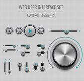 Insieme dell'interfaccia utente di web Immagini Stock
