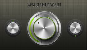 Insieme dell'interfaccia utente di web Immagini Stock Libere da Diritti