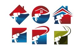 Insieme dell'isolamento della casa di Eco illustrazione vettoriale