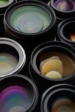 Insieme dell'obiettivo Fotografia Stock Libera da Diritti