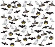 Insieme dell'oggetto di Halloween Fotografie Stock