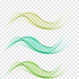 Insieme dell'onda verde Immagine Stock
