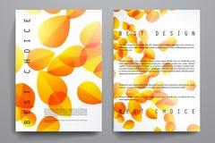 Insieme dell'opuscolo, modelli di progettazione del manifesto in autunno illustrazione vettoriale