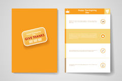Insieme dell'opuscolo, modelli di progettazione del manifesto in autunno royalty illustrazione gratis