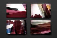 Insieme dell'opuscolo, modelli di progettazione del manifesto dentro illustrazione vettoriale