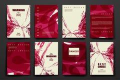 Insieme dell'opuscolo, modelli di progettazione del manifesto dentro illustrazione di stock