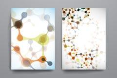 Insieme dell'opuscolo, modelli di progettazione del manifesto in DNA royalty illustrazione gratis
