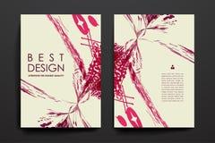 Insieme dell'opuscolo, modelli di progettazione del manifesto nello stile astratto illustrazione vettoriale