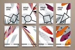 Insieme dell'opuscolo, modelli di progettazione del manifesto nello stile astratto del fondo illustrazione vettoriale