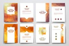Insieme dell'opuscolo, modelli di progettazione del manifesto nello stile cinese del nuovo anno royalty illustrazione gratis
