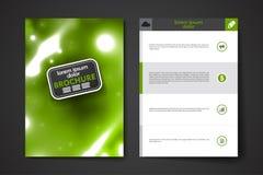 Insieme dell'opuscolo, modelli di progettazione del manifesto in neon illustrazione vettoriale
