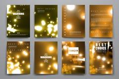 Insieme dell'opuscolo, modelli di progettazione del manifesto in neon royalty illustrazione gratis