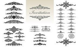 Insieme dell'ornamento & calligrafico di progettazione Illustrazione di Stock