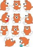Insieme dell'orso del bambino del fumetto Fotografia Stock